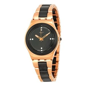 Rose Pearl Black Stainless Steel Watch YLG123G